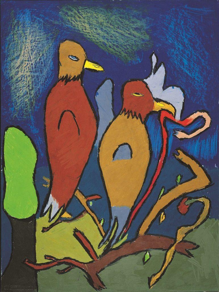 Jean-Jacques Bonnier, Sans titre, 1996, pastel gras sur papier, 73 x 55 cm