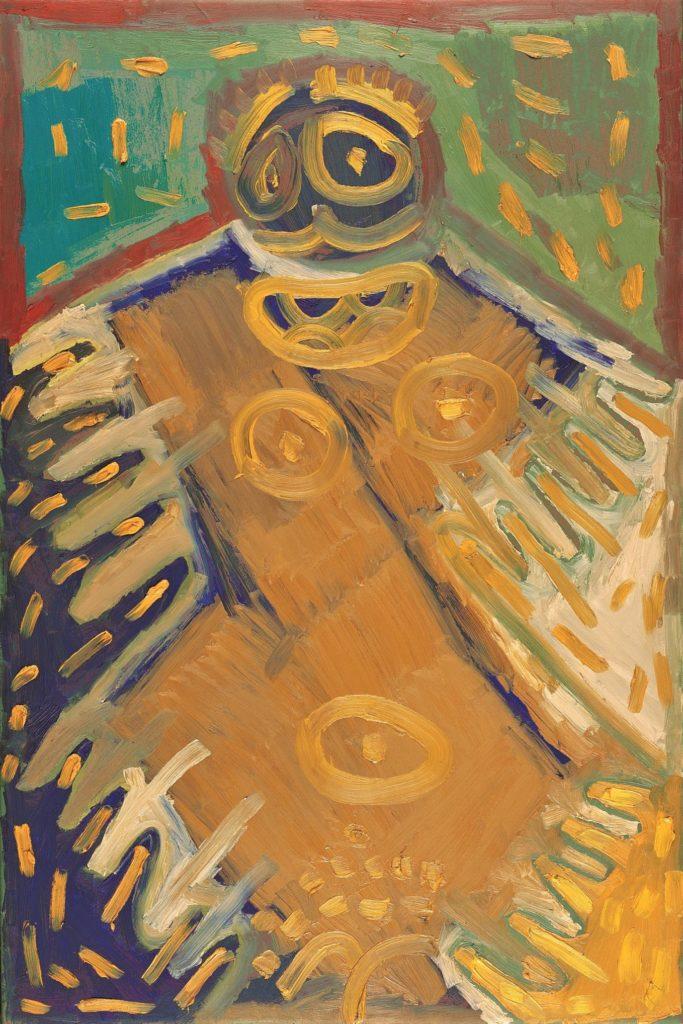 François Defontaine, Sans titre, 1999, peinture à l'huile sur toile, 150 x 100 cm
