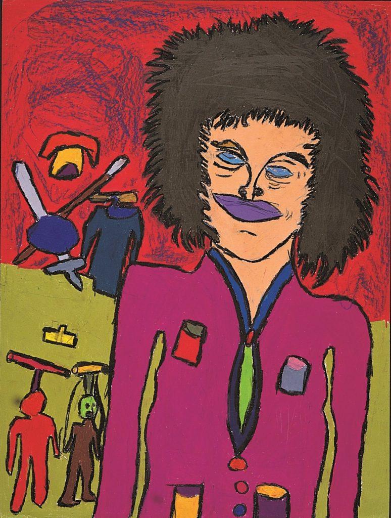 Jean-Jacques Bonnier, Sans titre, 1993, pastel gras sur papier, 73 x 55 cm