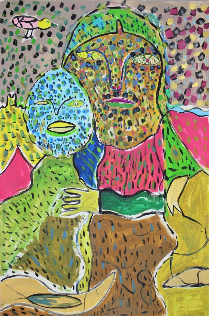 Vincent Feneyrou, Sans titre, nd (2015-2017), peinture acrylique sur carton, 110 x 73 cm