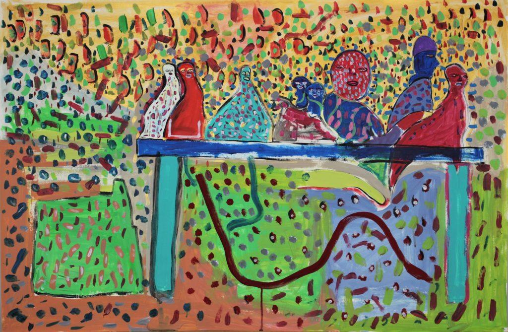 Vincent Feneyrou, Sans titre, nd (2015-2017), peinture acrylique sur carton, 73 x 110 cm