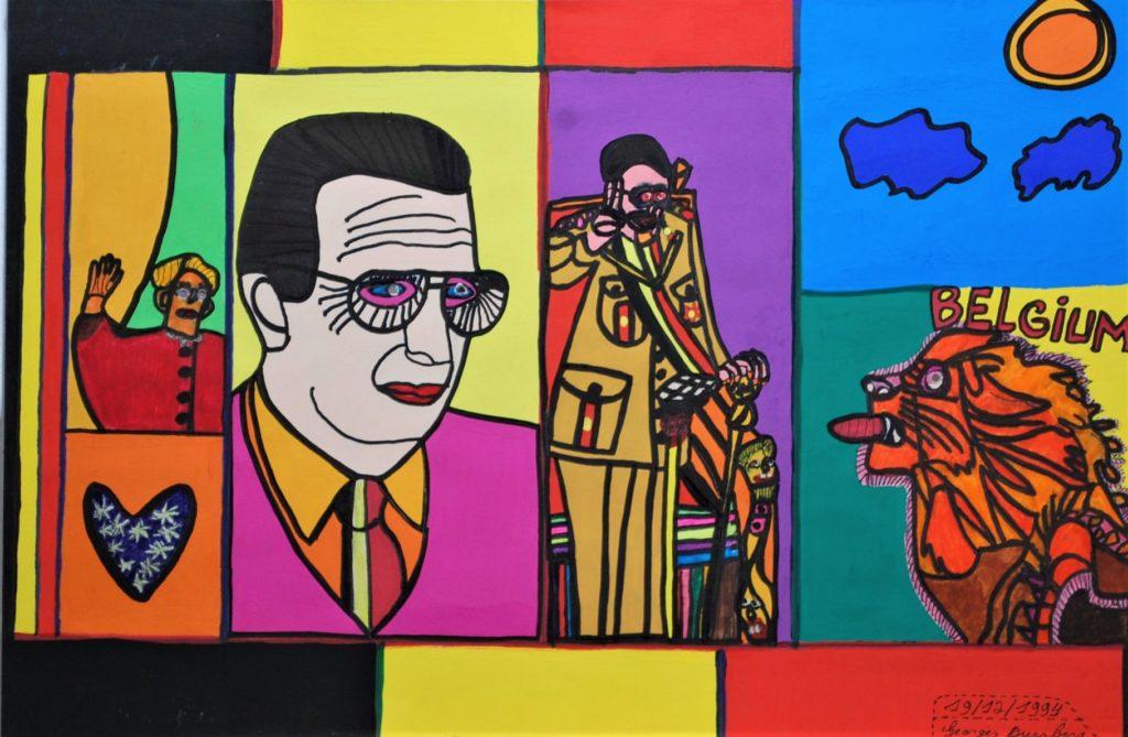 Georges Duesberg, Sans titre, 1994, gouache et marqueur sur papier, 36,5 x 55 cm