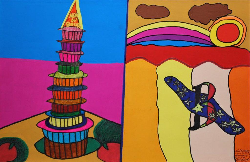 Georges Duesberg, Sans titre, 1994, gouache et marqueur sur papier, 36,5 x 55 cm (3)