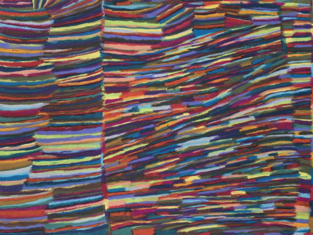 Anne Boucher, Pastels gras, 55cm x 73cm