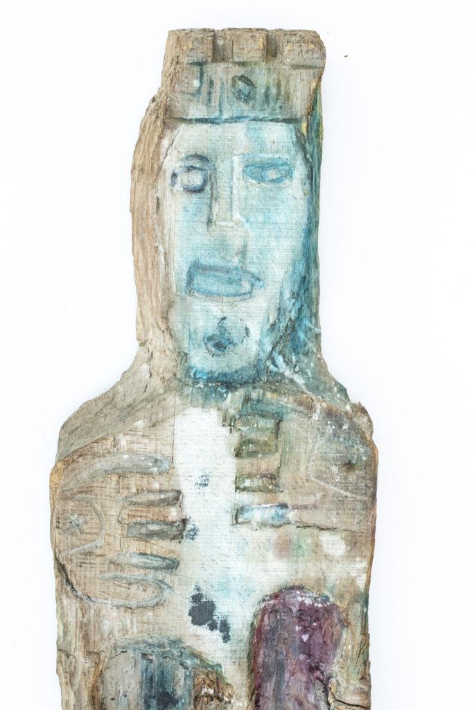 Dominique Bottemanne, sculpture, bas-relief haut. 203cm x 23cm, détail 1