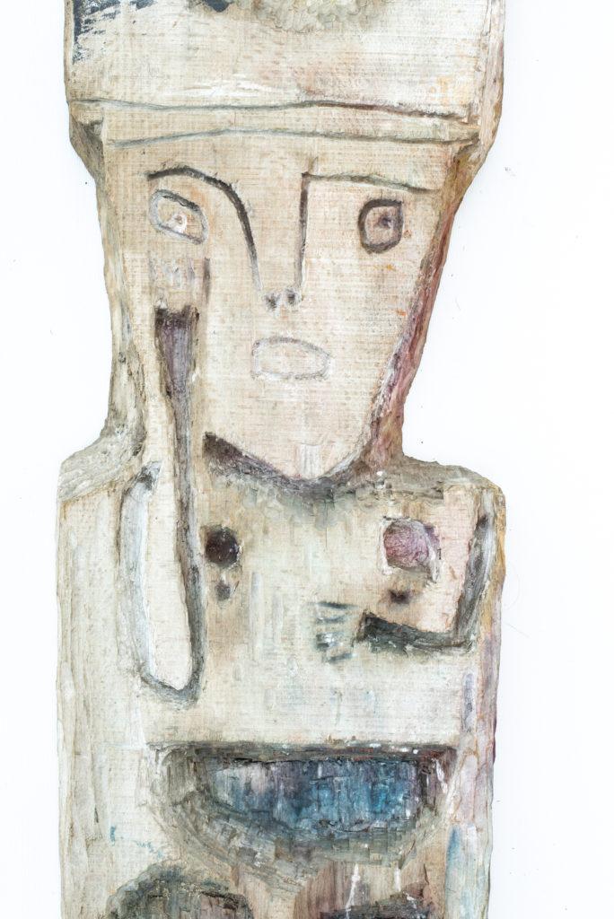 Dominique Bottemanne, sculpture, bas-relief haut. 203cm x 23cm, détail 2