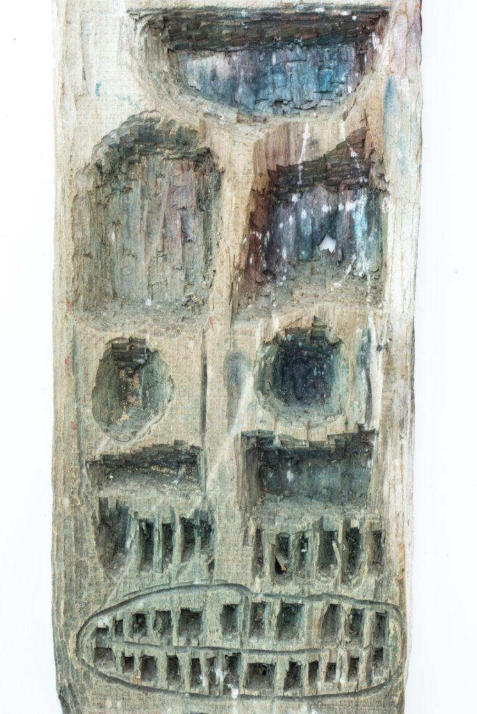 Dominique Bottemanne, sculpture, bas-relief haut. 203cm x 23cm, détail 4