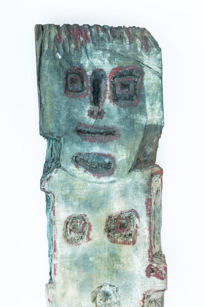Dominique Bottemanne, sculpture , bas-relief haut. 281cm x 23cm, détail 1