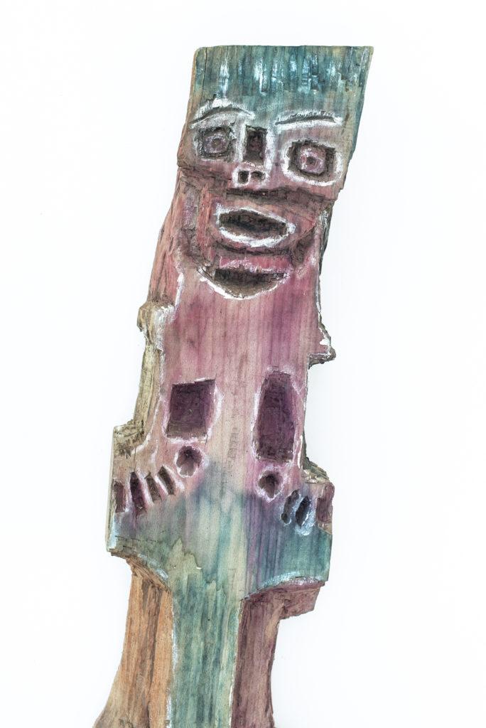 Dominique Bottemanne, sculpture, bas-relief haut. 303cm x 23cm, détail 1