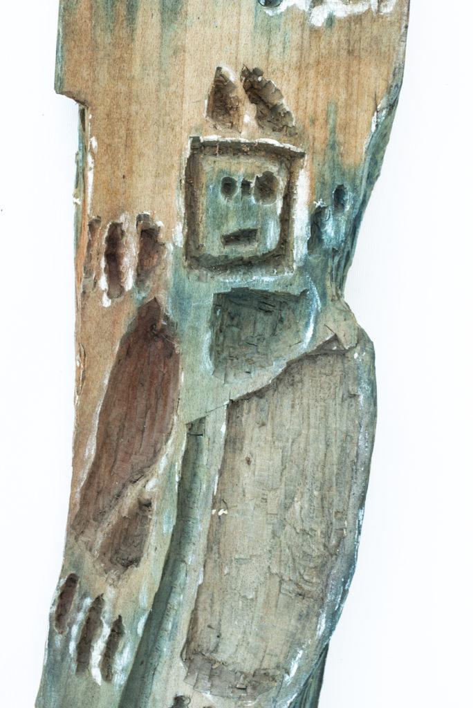 Dominique Bottemanne, sculpture, bas-relief haut. 303cm x 23cm, détail 2