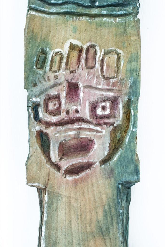 Dominique Bottemanne, sculpture, bas-relief haut. 303cm x 23cm, détail 3